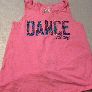 Justice Dance pink girls sleeveless shirt size 10